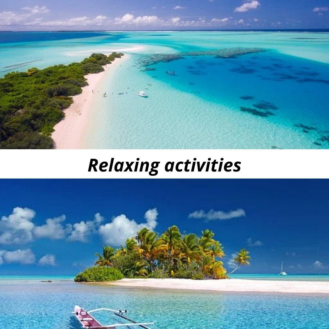 Relaxing activities you can do on your vacation trip